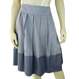 Elevenses Skirt 4 Lavender Pinstripe Open Pleat